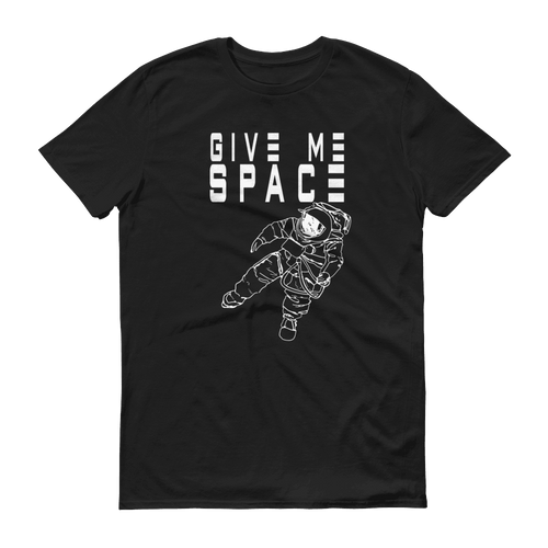 Give Me Space White Print Unisex T-Shirt, Original Art by PHD TEE™, Black