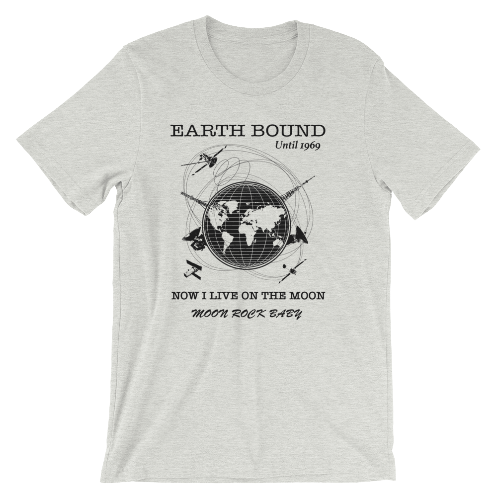 Earth Bound Unisex T-Shirt, Ashen, PhD Tee Designer Streetwear Fashion