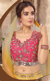 Pink and Yellow Lehenga Choli - Size 36