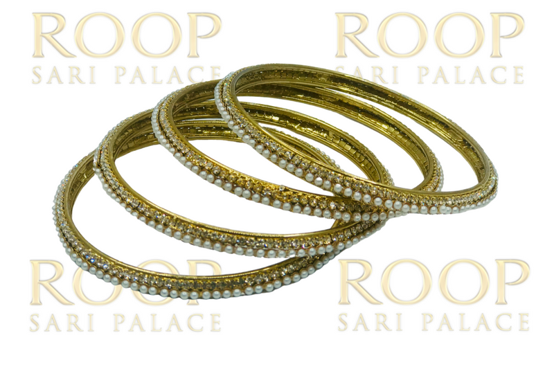 Gold bangle set of 4