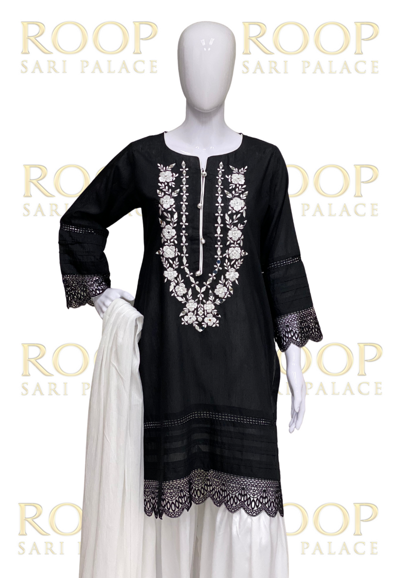 Straight Suit with Gharara