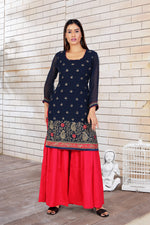 Navy Blue Gharara Suit - Size 38