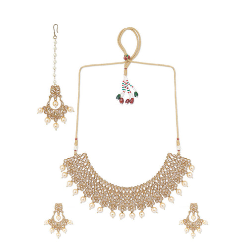 Champagne Polki Necklace Set