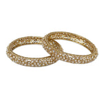 Champagne Gold Polki Bangle Set