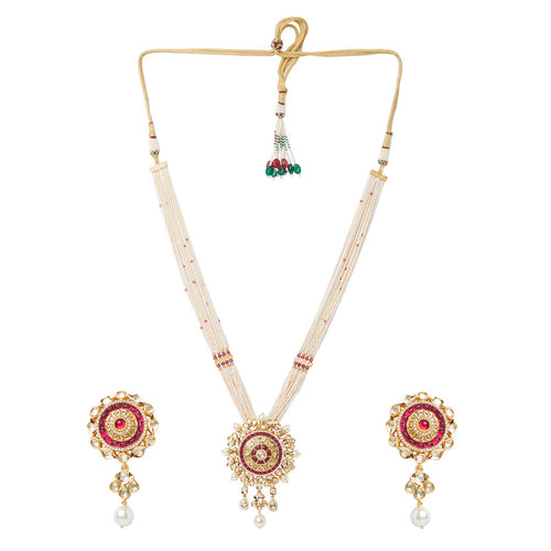 Kundan and Ruby Necklace Set