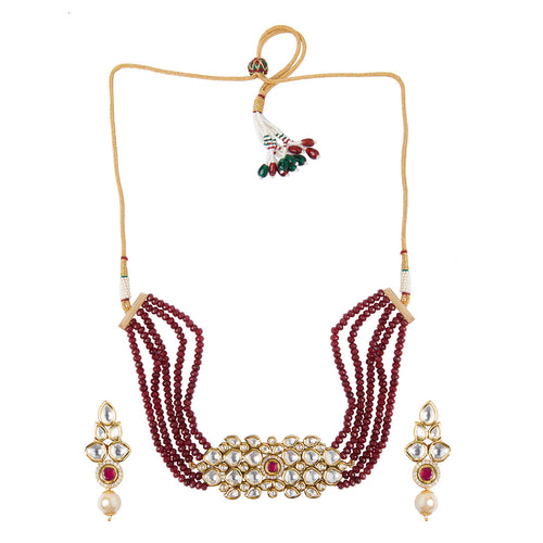 Kundan and Ruby Choker Set