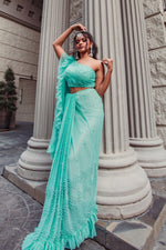 Mint Green Trendy Saree