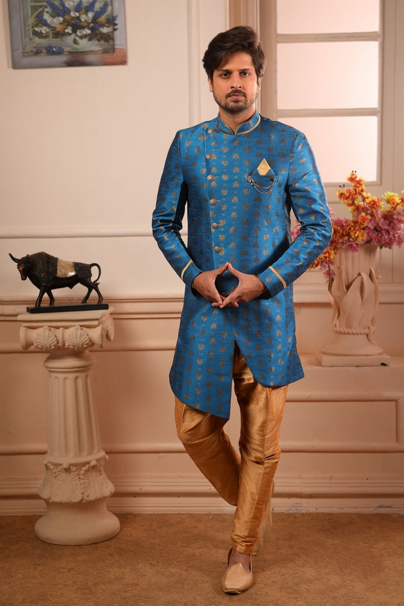 Men's Blue Kurta Pajama