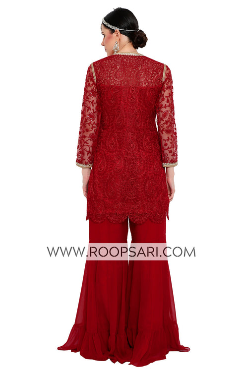 Red Gharara Suit - Size 38