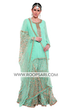 Sea Green Gharara Suit