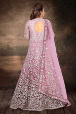 Shaded Pink Gown Style Suit