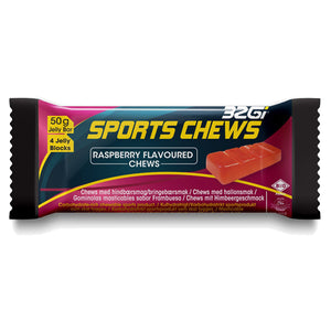 32Gi Sports Chews Raspberry Flavoured Chew
