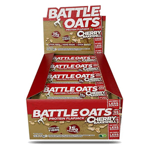 Battle Oats Protein Flapjack Cherry Bakewell-Box of 12