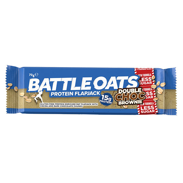 Battle Oats Protein Flapjack Double Choc Brownie