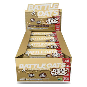 Battle Oats Protein Flapjack White Chocolate Coconut-Box of 12