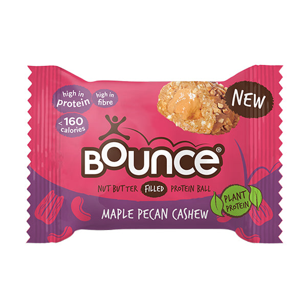 Bounce Protein Nut Butter Filled Ball Maple Pecan Cashew