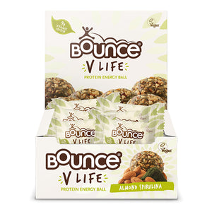 Bounce 'V LIFE' Protein Energy Ball Almond Spirulina Box of 12