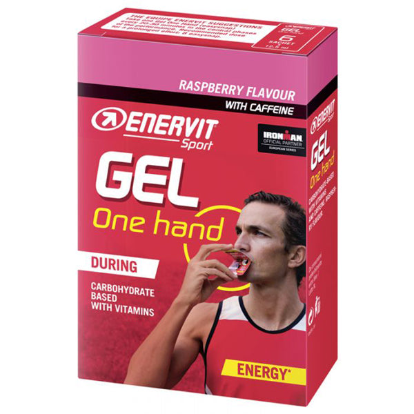 Enervit Sport Energy Gel One Handed Raspberry With Caffeine