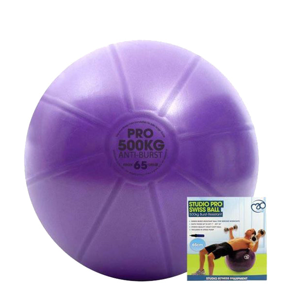 Fitness Mad 500Kg Swiss Ball & Pump - 65cm Purple