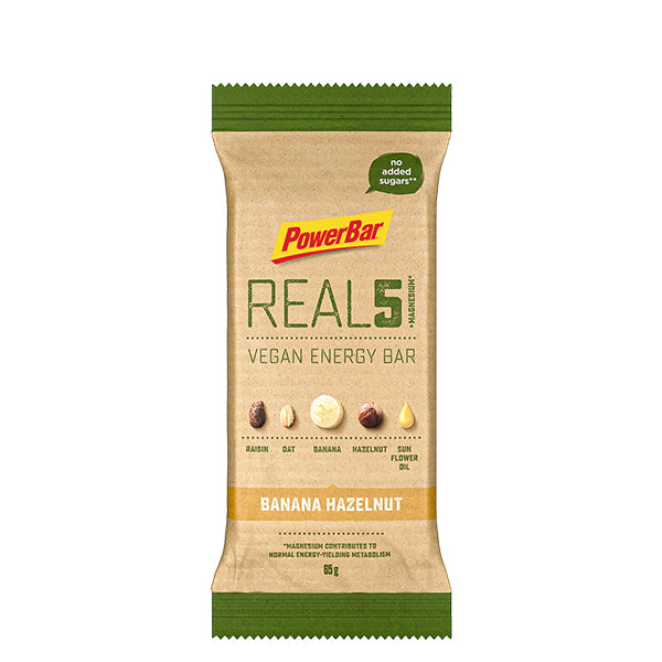 Powerbar REAL5 Vegan Energy Bar Banana Hazelnut