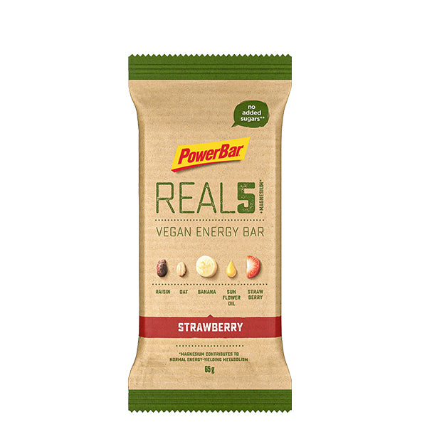 Powerbar REAL5 Vegan Energy Bar Strawberry
