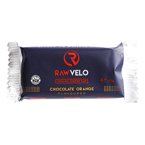 Raw Velo Organic Energy Bar Chocolate Orange Bar
