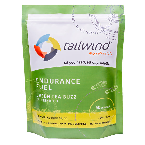 Tailwind 50 Serving Pouch Green Tea Buzz Caffeinated Endurance Fuel