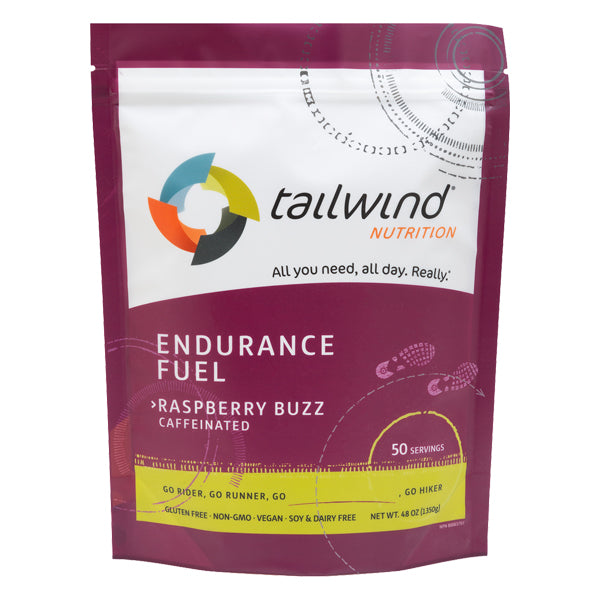 Tailwind 50 Serving Pouch Raspberry Buzz Caffeinated Endurance
