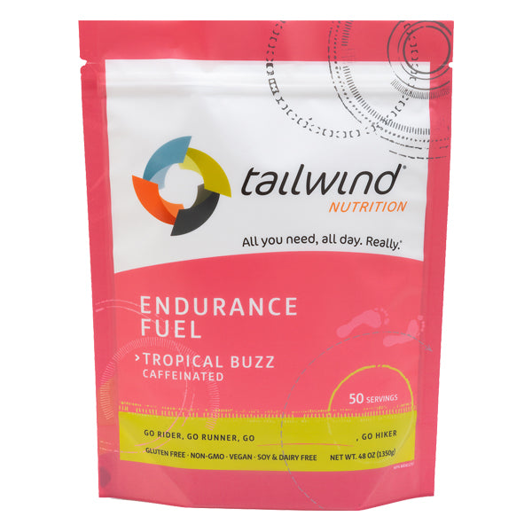 Tailwind 50 Serving Pouch Tropical Buzz Caffeinated Endurance Fuel