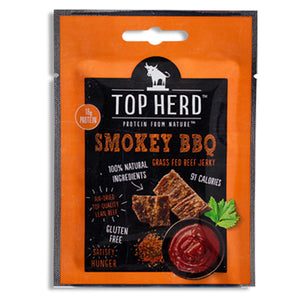 Top Herd Grass Fed Beef Jerky Smokey BBQ
