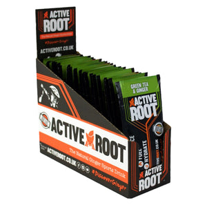 Active Root Natural Ginger Sports Drink Green Tea & Ginger-Box of 20
