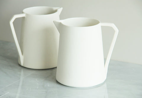white porcelain jug ideal for water or drinks