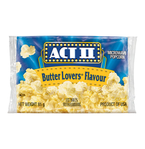 ACT 11 MICRO P/CORN 85G BUTTER LOVERS