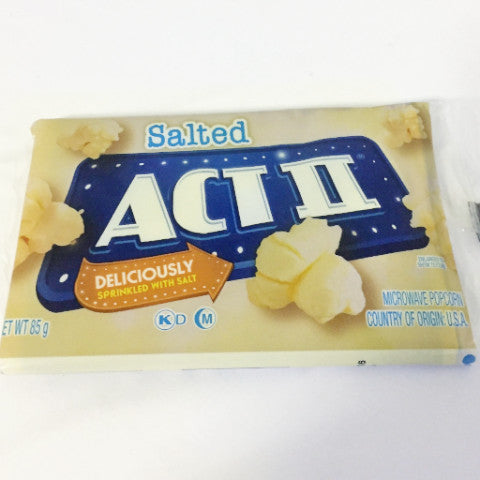 ACT 11 MICRO P/CORN 85G SALTED