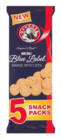 BAKERS MINI BLUE LABEL MARIE BISCUITS MULTIPACK 5X40G