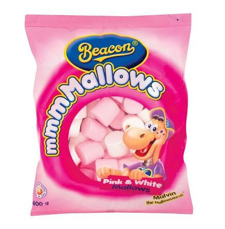 BEACON MARSHMALLOWS PINK & WHITE 400G