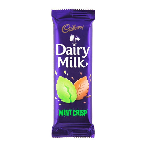 CADBURY CHOCOLATE SLABS 80G MINT CRISP