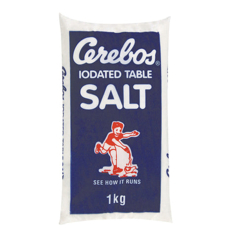CEREBOS TABLE SALT POLY 1KG