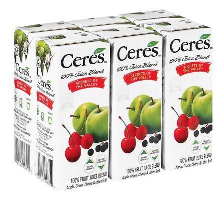 CERES THE SECRETS OF THE VALLEY JUICE 6X200ML