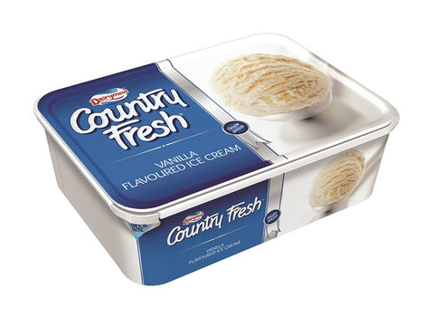 DAIRYMAID COUNTRY FRESH ICE CREAM TUB 1.8LT VANILLA