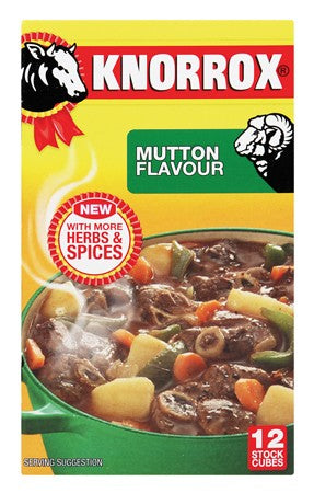 KNORROX STOCK CUBES 12'S MUTTON 122G