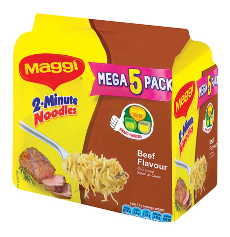 MAGGI 2 MINUTE NOODLES 73GX5 BEEF