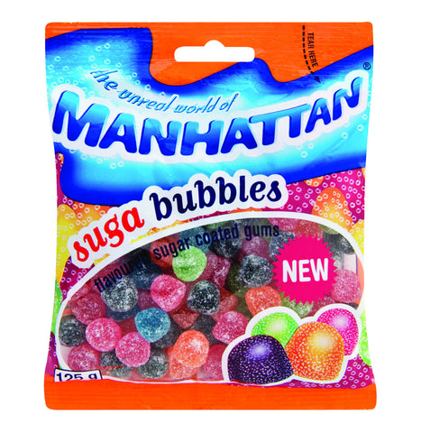 MANHATTAN SWEETS 125G SUGA BUBBLES