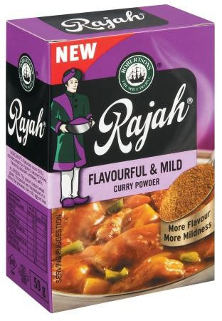 RAJAH CURRY POWDER 50G FLAVOURFUL&MILD