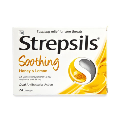 STREPSILS LOZENGES 24'S HONEY&LEMON