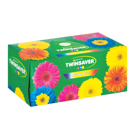TWINSAVER FACIAL  TISSUES 180'S RAINBOW