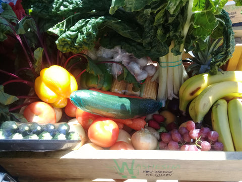 Once-Off: Weekly Supply Family Fruit and Vegetable Combo Crate/Box - Monthly (4 week) Subscription
