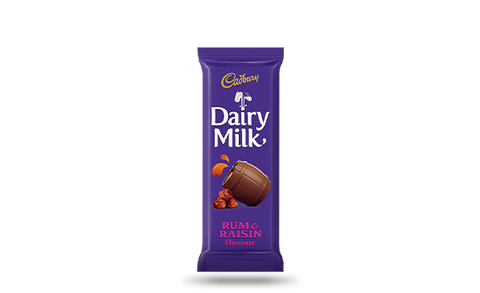 CADBURY CHOCOLATE SLABS 80G RUM AND RAISIN