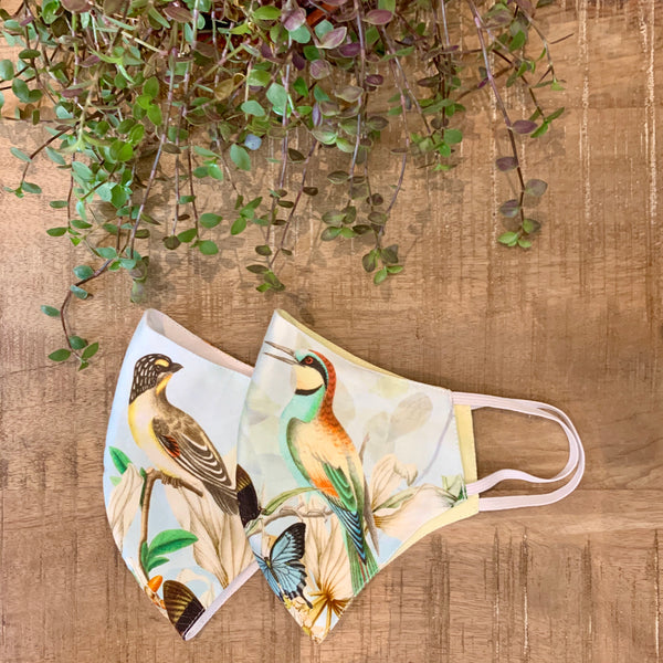 Face Mask - Goldfinch Kingfisher - Set of 2
