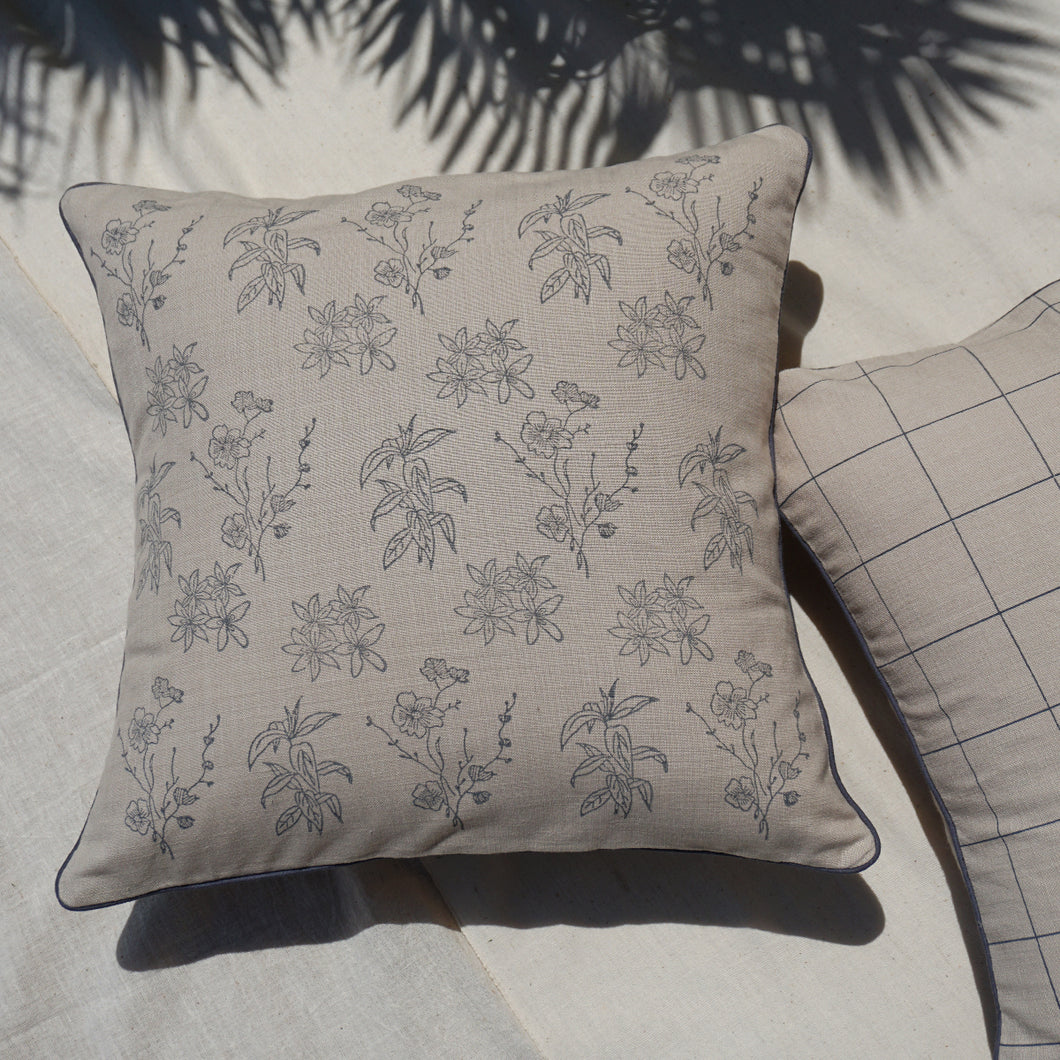 Wildflower Cushion Cover, Beige
